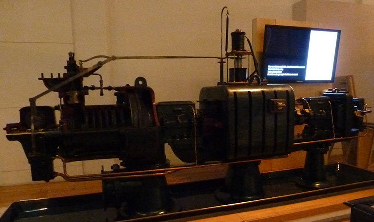 Prototype of Parsons turbo-generator, on display at the Science Museum, London